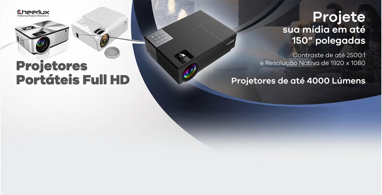 Projetores Cheerlux 4000 lumens Full Hd