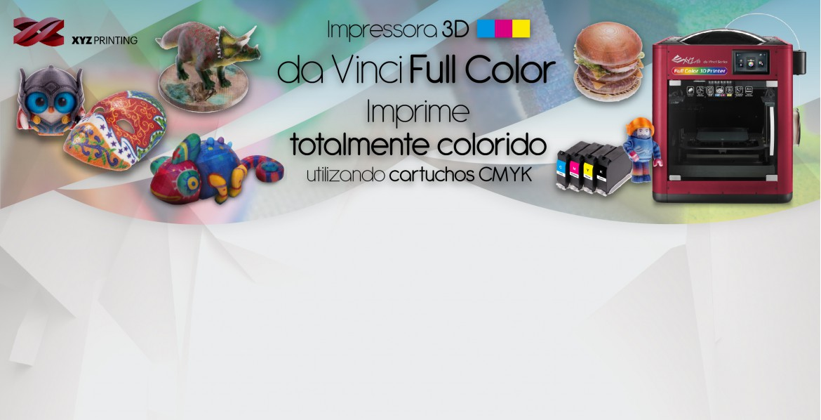 Impressora 3D XYZ Printing Full Color