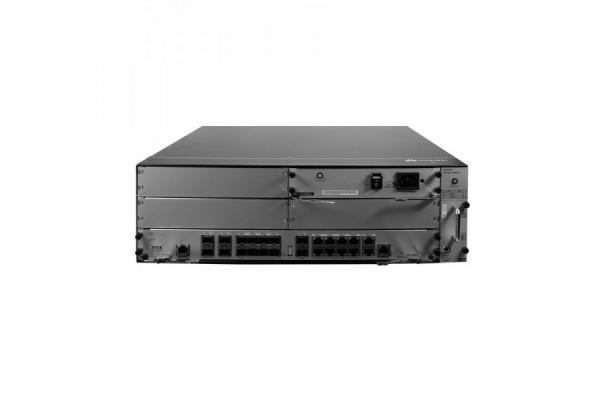 Roteador Empresarial Huawei AR6300 10Gbps/12Gbps + Portas Fixas WAN: 14x10GE SFP+ (Compatível com GESFP), 10xGE RJ45 NetEngine