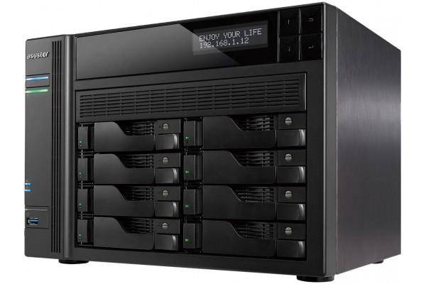 Servidor NAS Asustor AS6208T 8x 3.5pol Intel Celeron 1.6 GHz Quad-Core 4GB RAM sem Disco para Cloud
