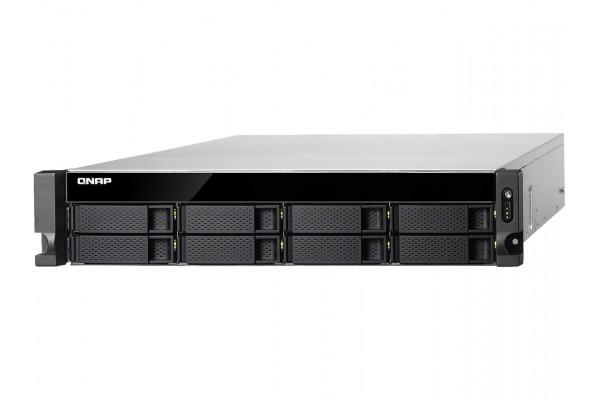 Servidor NAS Qnap TS-832XU-RP-4G 2U 8x 3.5pol 4GB DDR4 RAM 1.7GHz 2x10GbE SFP+ RTL