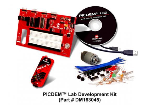 Placa de Desenvolvimento Microchip DM163045 PICDEM Lab