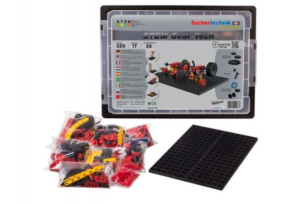 Kit Robótica Fischtechnik STEM Gear Tech 17 modelos 320 peças 26 experimentos