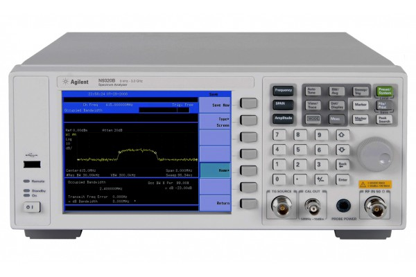 Analisador de Espectro RF (BSA) Keysight N9320B + Upgrade: Gerador de Tracking N9320BK-TG3 3GHz
