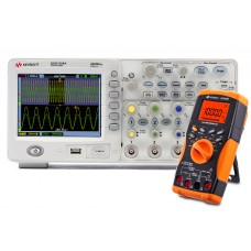 Osciloscópio Digital + Multimetro Digital Keysight DSO1024A + U1242B