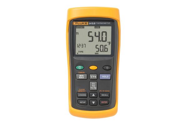 Termômetro com registro de dados com dupla entrada Fluke 54 II B