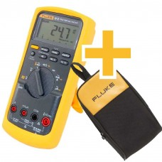 Multímetro Digital Industrial Fluke 87 V True-RMS com termômetro + Case Fluke C25