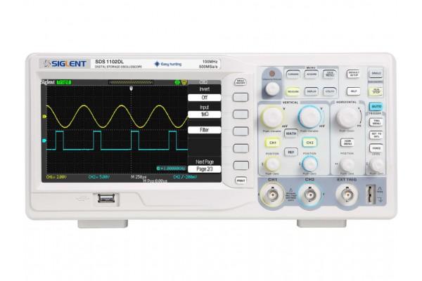 Osciloscópio Digital Siglent SDS1102DL+ 100 MHz 2 Canais