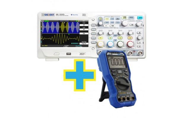 Osciloscópio Digital Siglent SDS1074CFL 70MHz 4 Canais + Brinde Multímetro Digital Signumtechs OW18B