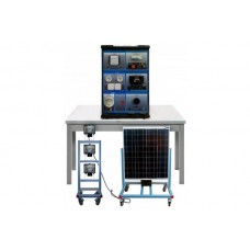 Bancada Didática Aplicação de Rede Fotovoltaica Isolada Edibon AEL SAPV