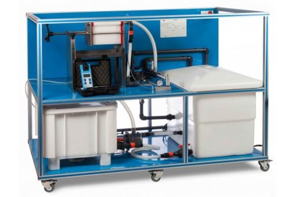 Bancada Didática Prensa de filtro de chapa e quadro controlada por computador Edibon AFPMC