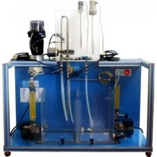 Bancada Didática de Controle de Processos Controlado por Computador com válvula de controle pneumática Edibon UCPCN