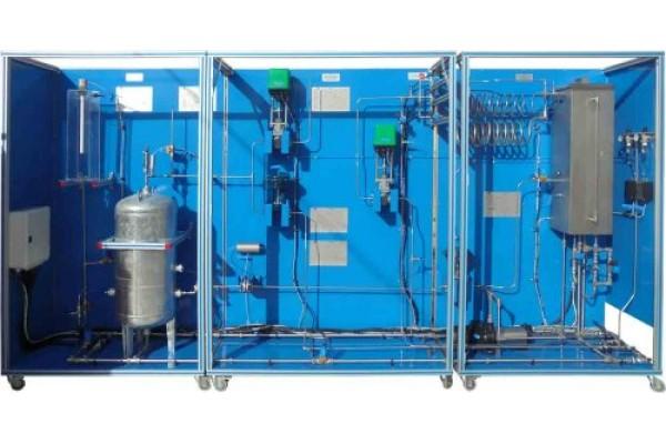 Bancada Didática de Controle de Processos com Instrumentação Industrial Controlada por Computador Edibon CPIC