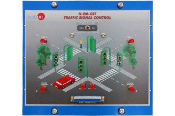 Bancada Didática de Controle de Sinal de Trânsito Edibon N EM CST