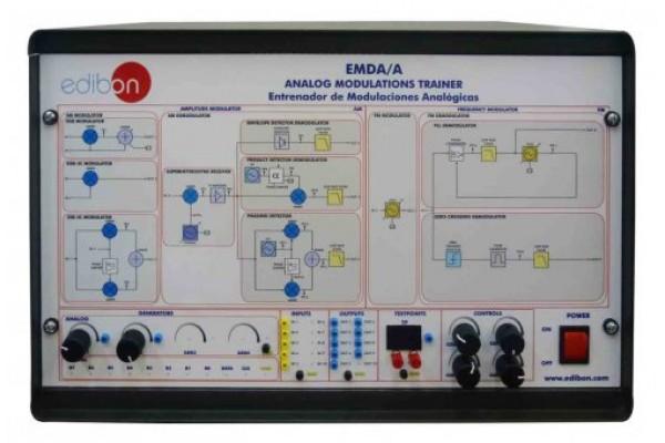Bancada Didática de Modulações Analógicas Edibon EMDA/A