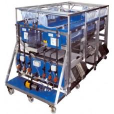 Bancada Didática de Sistemas Hidrológicos, Simulador de Chuva e Sistemas de Irrigação (4 x 2m) Controlado por Computador Edibon ESHC