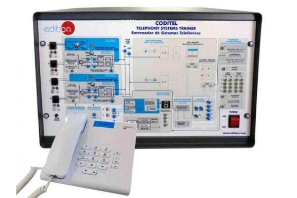 Bancada Didática para treinamento de telefone Edibon CODITEL