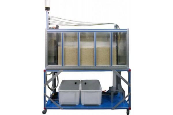Bancada Didática de Depósito de Filtração e Drenagem Controlado por Computador Edibon PDFDC