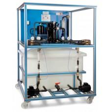 Bancada Didática de Refrigeração por Compressão de Vapor Controlada por Computador Edibon TRCVC